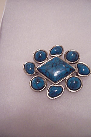 Native American Turquoise Brooch/Pin (Image1)