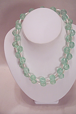 Light Green Faceted Bead Necklace (Image1)