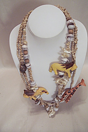 African Three-strand Necklace