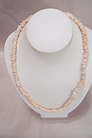 Pinkish-white Puka Shell Necklace