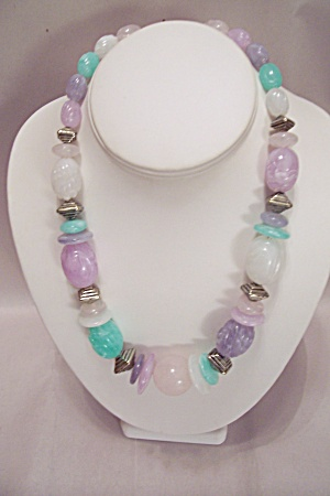 Pastel Colored Bead Necklace (Image1)