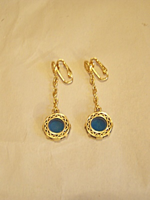 Clip-on Gold Plated Dangle Earrings