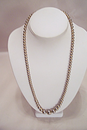 Goldtone Bead Necklace