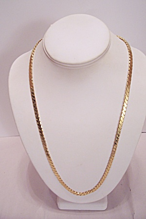 Napier Gold Finish Twisted Chain Necklace