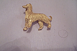 Trifari Gold Plated Wolfhound Brooch/pin