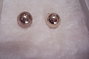 Gold Plated Round Button Clip-on Earrings