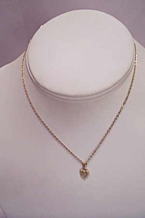 Initial J Chain & Heart Necklace (Image1)