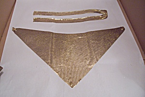 Gold Plated Metal Mesh Belt & Scarf