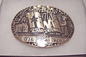 Texas Sesquicentennial Commemorative Belt Buckle