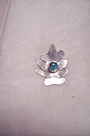Sterling Silver & Turquoise Pin (Image1)
