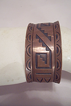 Southwestern Native American Copper Bangle Bracelet