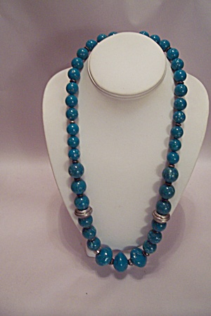 Turquoise Green Bead Necklace