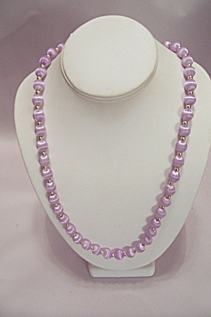 Light Purple Cloth Bead Necklace