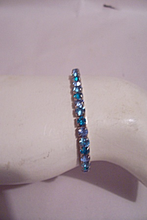 Light & Dark Blue Rhinestone Expansion Bracelet