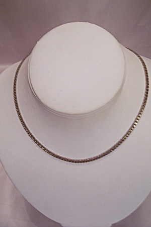 Avon Gold Tone Link Choker Necklace