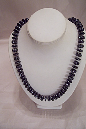 Black Plastic Bead Necklace