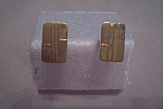 Click here to enlarge image and see more about item VMCAC0016: Rectangular Gold Plated Cuff Links