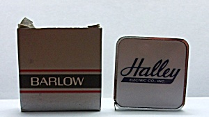 VINTAGE ADV. BARLOW TAPE MEASURE HALLEY ELECTRIC (Image1)