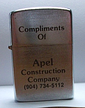 VINTAGE ADVERTISING APEL CONSTRUCTION LIGHTER (Image1)
