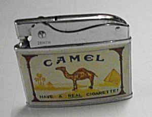 1960`S ZENITH FLAT LIGHTER ADVERTISING CAMEL CIGARETTES (Image1)