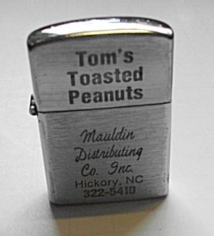 1960 OK JAPAN POCKET LIGHTER ADVERTISING TOM`S TOASTED (Image1)