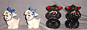 Muggsy Toothache Dog(S) & Brown Poodles Salt & Pepper