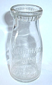 ONONDAGA MILK BOTTLE EMBOSSED (Image1)