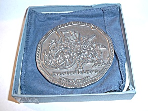 GENUINE PEWTER  CONCEIVED IN LIBERTY EMBOSSED TABLE (Image1)