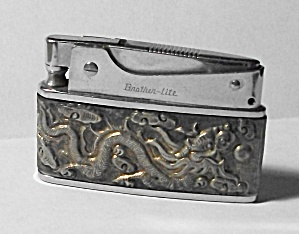 VINTAGE 1960`S BROTHER LITE STAMPED DRAGON LIGHTER (Image1)