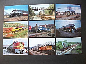 9 - Train Postcards - Norfolk - Ny Central - Mohawk