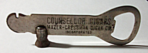 OLD 1930`S ADVERTISING COUNSELLOR CIGARS BOX OPENER (Image1)