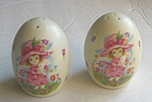 VINTAGE GEO. Z. LEFTON PORCELAIN SALT & PEPPER SHAKERS (Image1)