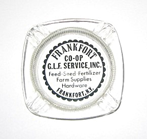 VINTAGE 1960`S FRANKFORT CO-OP G.L.F. SERVICE ASHTRAY (Image1)
