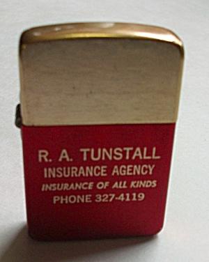 VINTAGE PARK ADV. R.A. TUNSTALL INSURANCE LIGHTER (Image1)