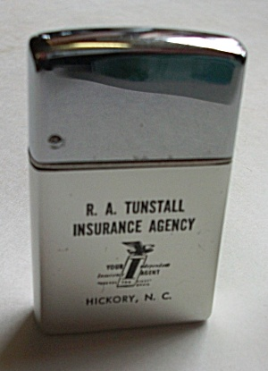 Vintage Aluminum Park Slim Advertising R.a. Tunstall In