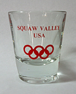 VINTAGE ANCHOR HOCKING SQUAW VALLEY USA OLYMPICS  (Image1)