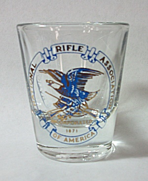VINTAGE LIBBEY NATIONAL RIFLE ASSOCIATION SHOT GLASS (Image1)
