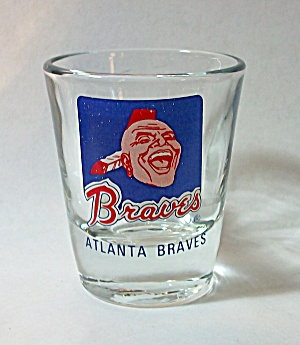 VINTAGE ATLANTA BRAVES SHOT GLASS (Image1)