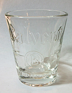 VINTAGE EMBOSSED CALVERT WHISKEY SHOT GLASS (Image1)
