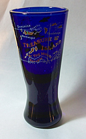 OLD DOUBLE SHOT TALL BOY COLBALT BLUE TREASURE ISLAND (Image1)