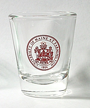 Vintage University Of Maine At Farmington Shot Glass