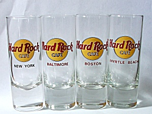 4 Old Hard Rock Cafe N.y. Balitmore Boston Myrtle Beach