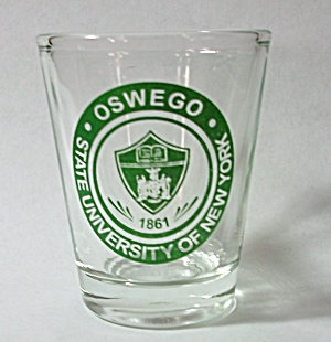 OSWEGO STATE UNIVERSITY OF NEW YORK SHOT GLASS (Image1)