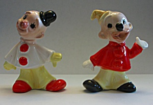 VINTAGE CIRCA 1960`S PAIR OF SMILING CLOWNS J.L. CO.  (Image1)
