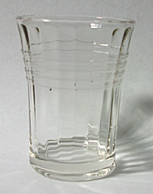 VINTAGE CIRCA 1930`S VERTICAL & HORIZONTAL SHOT GLASS (Image1)