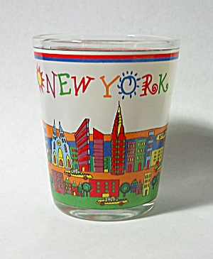 VINTAGE NEW YORK LOGO SHOT GLASS  (Image1)