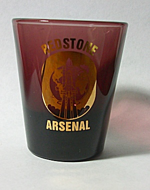 VINTAGE AMEHHYS REDSTONE ARSENAL SHOT GLASS  (Image1)