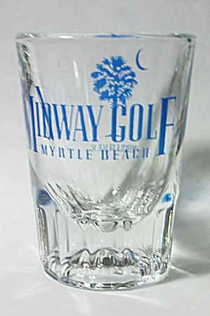 VINTAGE MIDWAY GOLF MYRTLE BEACH DOUBLE SHOT GLASS (Image1)