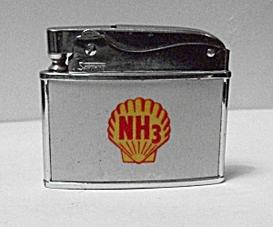 Vintage Rare Sapphire 1960`s Adv. Shell`s Nh3 Lighter