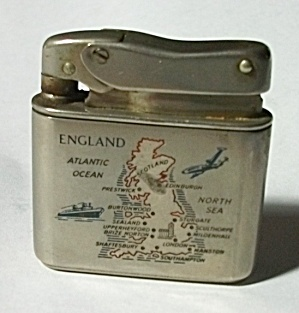 Vintage 1940`s Mylflam Engraved England Lighter